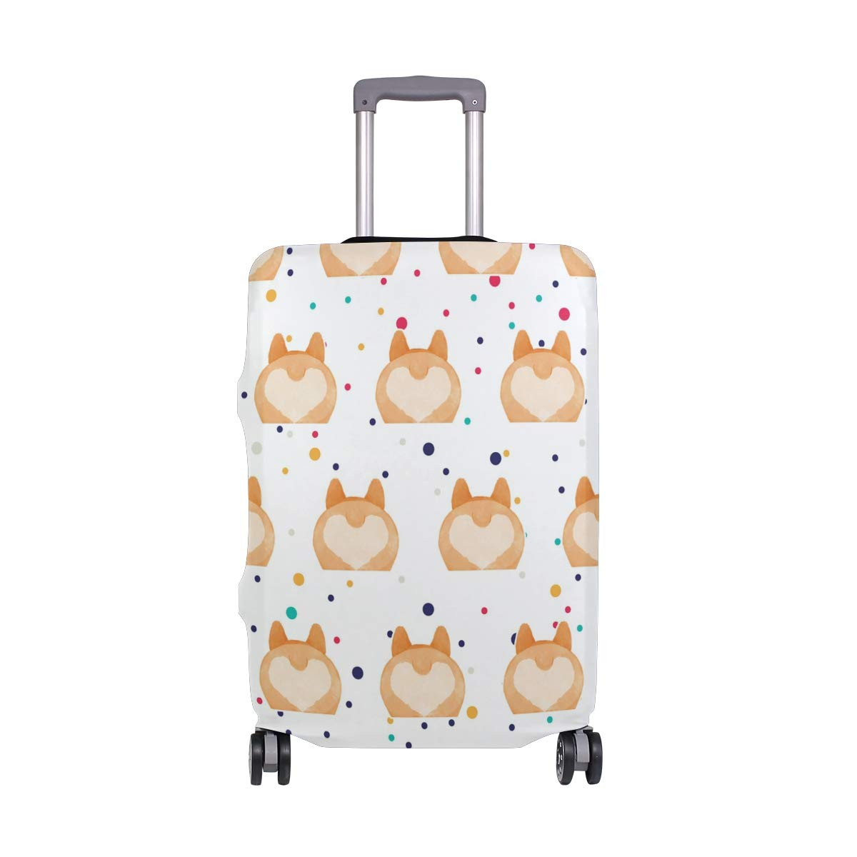 Corgi Butt Love Travel Luggage Cover - Suitcase Protector HLive Spandex Dust Proof Covers with Zipper, Fits 18-32 inch