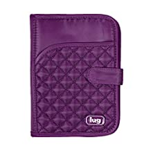 Lug Pilot Mini Travel Wallet, Plum Purple, One Size