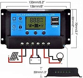 20A 12V// 24V Intelligenter Solarpanel Laderegler Solar Panel Regler mit LC