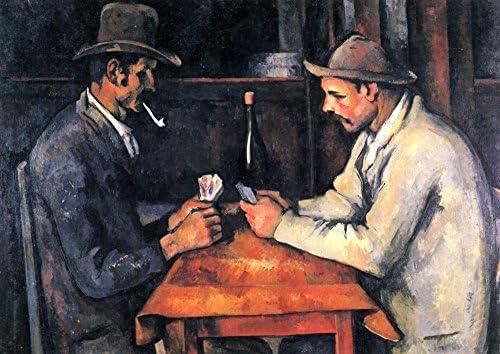 絵画風 壁紙ポスター(はがせるシール式) ポール・セザンヌ カード遊びをする人々 1892-93年 近代絵画の父 オルセー美術館 キャラクロ K-CZN-001S2 (594mm×420mm) 建築用壁紙+耐候性塗料