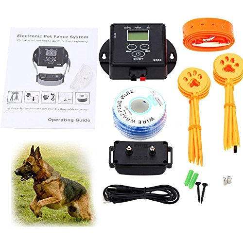 Excellent Electronic Pet Fencing System Dog Fence System + 1 Shock Collar Q1XV