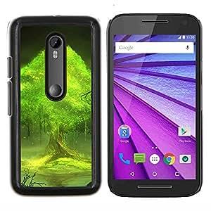 For Motorola MOTO G3 / Moto G (3nd Generation) Case , Árboles mundo- Diseño Patrón Teléfono Caso Cubierta Case Bumper Duro Protección Case Cover Funda
