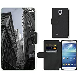 Hot Style Cell Phone Card Slot PU Leather Wallet Case // M00170165 Skyscrapers New York City Centre // Samsung Galaxy S4 S IV SIV i9500