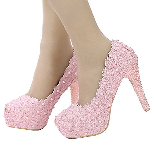 also-easy-exquisite-womens-handmade-lace-with-flower-pearls-dress-high-heel-pink9-bm-us-hot-sell