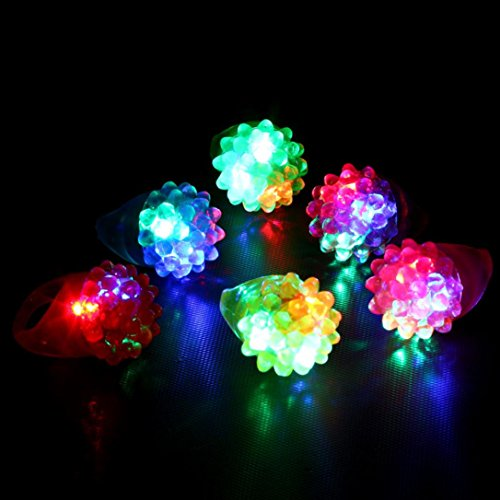 Putars Cute 18 Pack Led Rubber Rings For Party Favors Jelly Bubble Light Up Finger Toy (B-18PCS) (Strawberry Halloween Costume Diy)