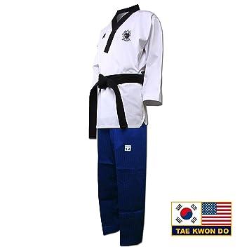 Mooto taebek POOMSAE Taekwondo Anzug Dan Dobok Männlich