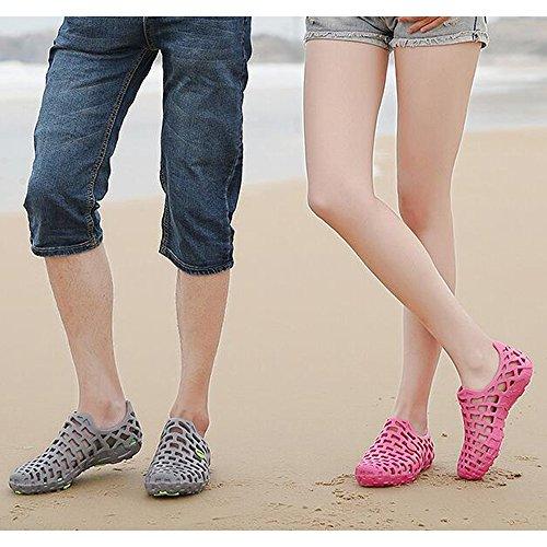 DULEE - Sandalias deportivas de goma eva para mujer gris