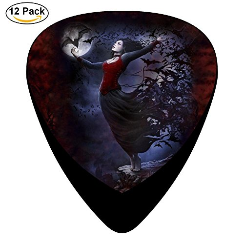 Witch Celluloid Guitar Picks 12 Pack Includes Thin,Medium,Heavy Gauges For Electric Acoustic Guitar]()