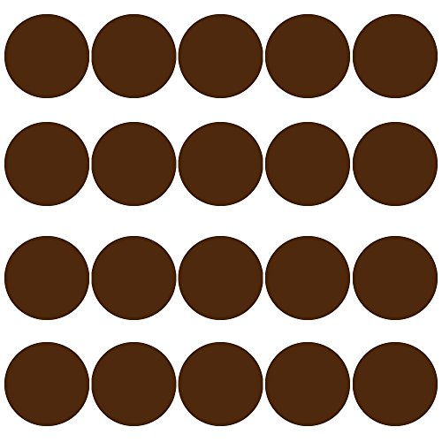 Brown Polka Dot Peel - 20 Polka Dot Wall Decals 3 Inch Peel & Stick Circles Dots Colors Kids Room VWAQ-555 (Brown)