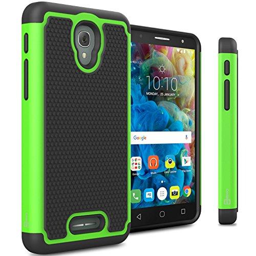 Alcatel Fierce 4 Case,Alcatel One Touch Allura Case, Alcatel Pop 4 Plus Case CoverON Hybrid Hard Phone Cover for Alcatel Fierce 4 OneTouch Allura Pop 4+ -Green
