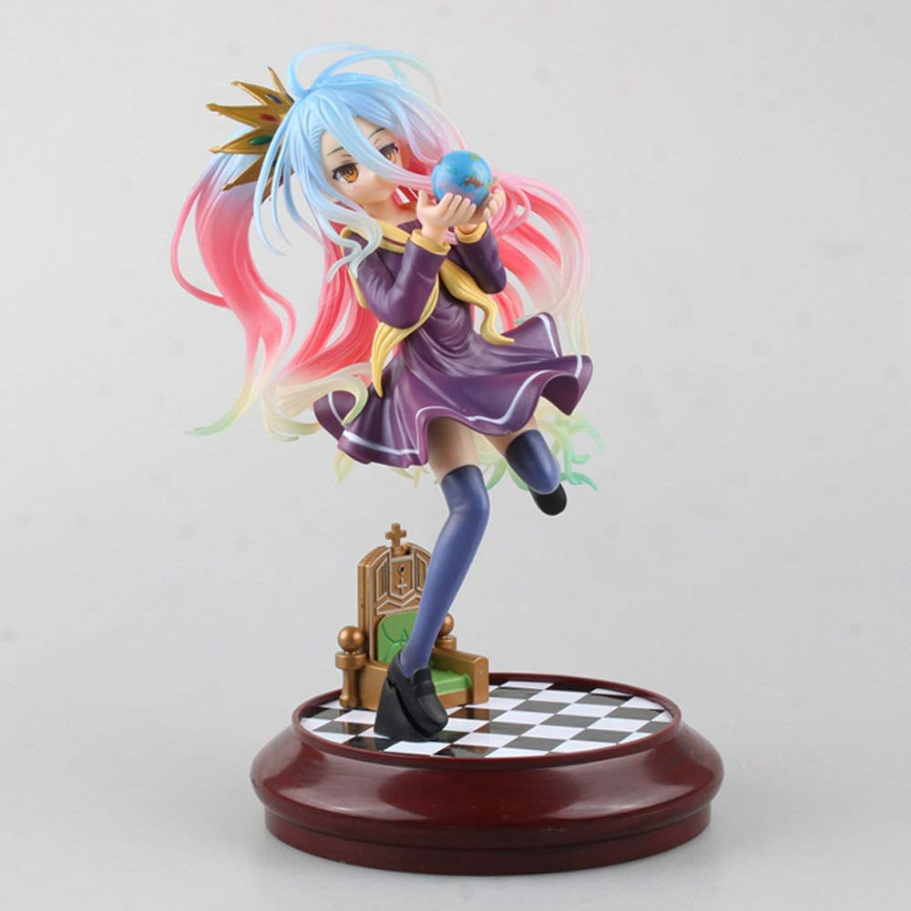 DUDDP Animetoys Anime Character Model Game Character Decoration Game Life White 1/7 Statue Model Doll Collection/Birthday Gift - PVC Model Adult Children's Toys (20CM) Anime Suit