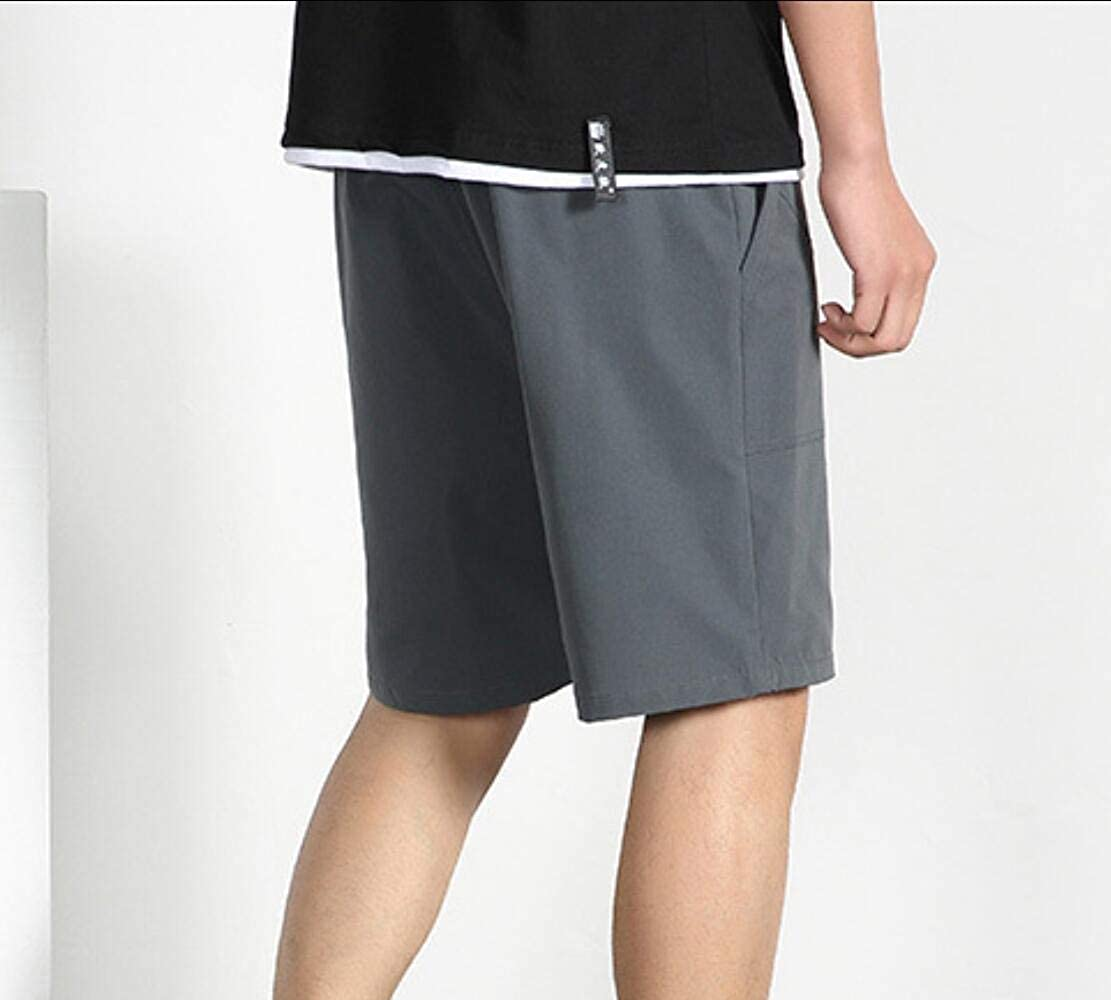 Zimaes-Men 100/% Cotton Sweatpants Solid Shorts Summer Beach Trousers