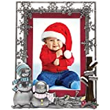 Pewter Winter Christmas Picture Frame