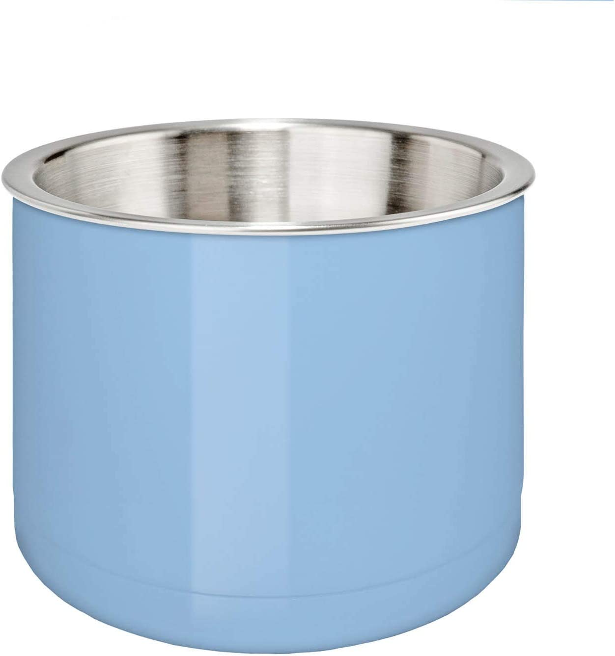 True North Stainless Steel Insulated Serving Bowl + Dip Chiller, Keeps Food and Beverages Hot or Cold Up To 24 Hours, 35 oz, Sport Light Blue