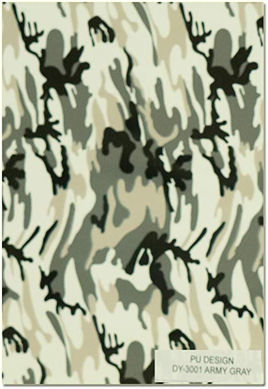4 Assorted Colors Heat Transfer Camouflage Pattern Vinyl Pack//Camo Iron on Vinyl Sheets 12x10 for DIY Shirt and Garment Camouflage Green、Gray、Red、Silver