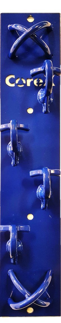 CoreX Core2Mount Vertical Resistance and Bodyweight Strap Wall Mount Blue