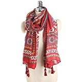 Onlineb2c Cotton Linen Long Scarf Wraps Pashmina Shawls Women Winter