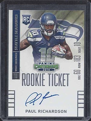 3c53ced50 Paul Richardson 2014 Panini Contenders Rookie Ticket On Card True Rc ...