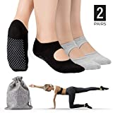 Tusscle Yoga Socks for Women, Non-Slip Yoga Socks with Grips Ideal for Yoga, Pilates, Barre,Ballet,Dance and Sports for Home & Body Balance