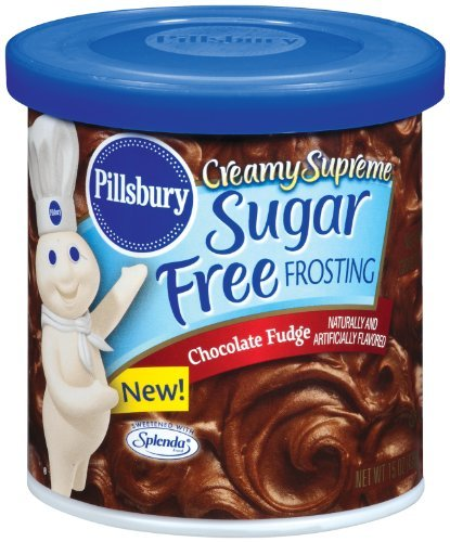 Supreme Frosting (Pillsbury Creamy Supreme Sugar Free Chocolate Fudge Flavor Frosting, 15-Ounce (Pack of 6) by Pillsbury)