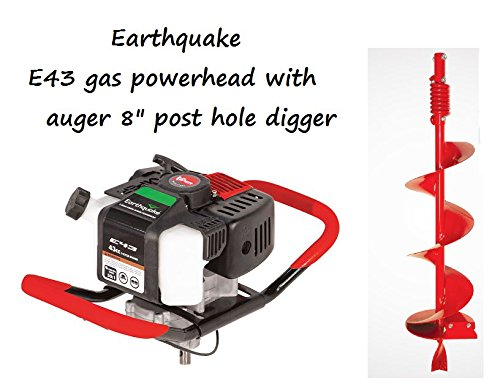 Earthquake 22777 43cc 2-Cycle Powerhead and 8-Inch Earth Auger Post-Hole Digger Combo (CARB Compliant)