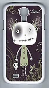 Galaxy S4 Case, Personalized Protective Hard PC White Edge Halloween Nn Case Cover for Samsung Galaxy S4