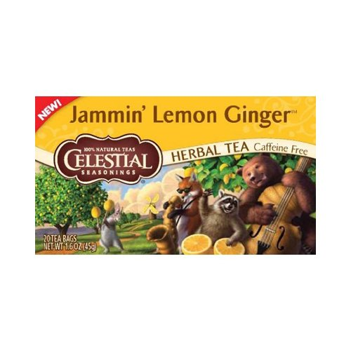 Celestial Seasonings Herbal Tea - Jammin' Lemon Ginger - Caf