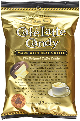 Bali's Best Latte Candy, 5.3-Ounce Bags (Pack of 12) Latte Candy