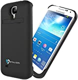 Galaxy S4 Battery Case: Stalion Stamina Rechargeable Extended Charging Case (Jet Black) 3300mAh Protective Charger Cover with Kickstand + LED Charge Indicator Light