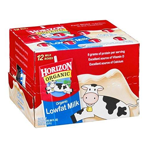 HORIZON MILK ORGANIC LOWFAT 8 OZ -12 CT