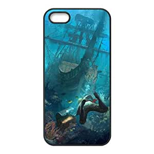 Assassins Creed Black Flag iPhone5s Cell Phone Case Black gift pp001_9452570