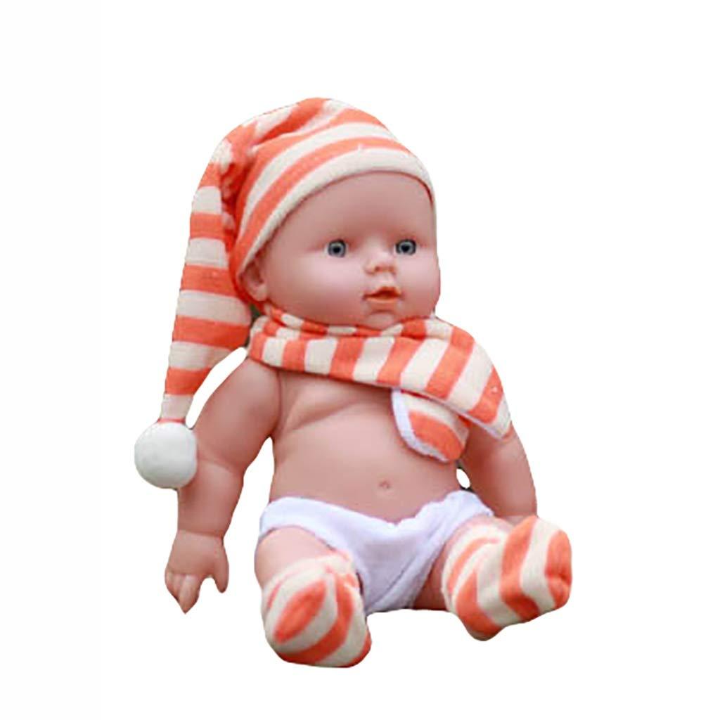 naranja Muñecos bebé Simulación Baby Doll 12 Pulgadas   30 cm Completo Suave Muñeca de Silicona Reborn Bebé Apaciguar Muñeca Niño Aprendizaje Temprano Juguete de Navidad Regalo de Cumpleaños (Color   azul)