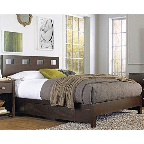 (Modus Furniture RV26D6 Riva Platform Storage Bed California King Chocolate Brown)