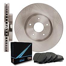 Rear Premium OE Blank Rotors and Carbon Pads Brake Kit TA019842 | Fits: 2011 11 Infiniti G25X AWD Models