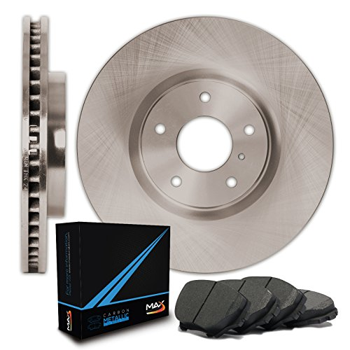 Rear Premium OE Blank Rotors and Carbon Pads Brake Kit TA082142 | Fits: 2000 00 2001 01 2002 02 Mercedes Benz E320 Sedan (2006 Mercedes Benz C230 Sedan)