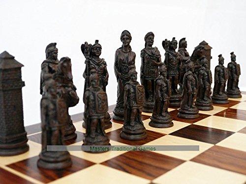 【楽ギフ_包装】 Berkeley Roman Roman Chess Set - brown cream and brown Set B07DL4RZPS, Island Style/アイランドスタイル:48008eb5 --- arianechie.dominiotemporario.com