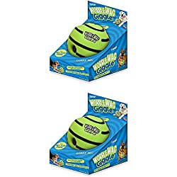 Wobble Wag Giggle Ball Dog Toy (2 pack)