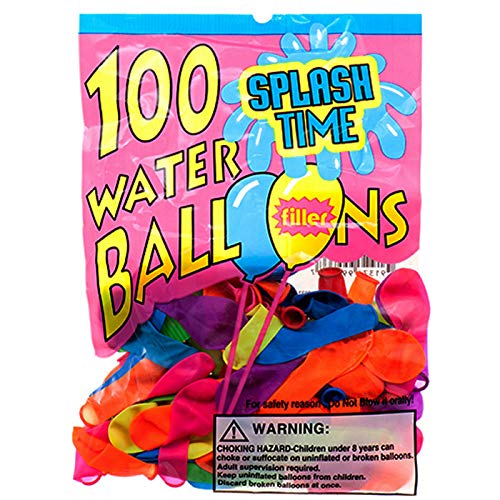 100PC ASSRT Water Balloon W/ Filler in PEGABLE PP Bag, Case of 144