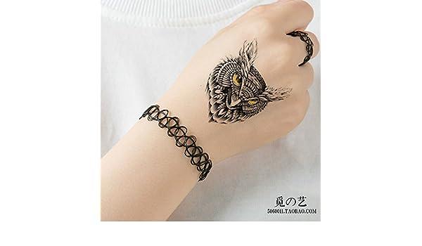 Oottati Tatuajes Temporales Lechuza (2 hojas): Amazon.es: Belleza