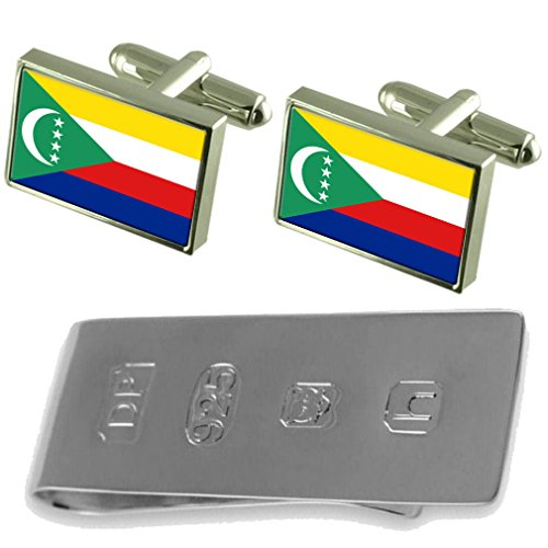Bond James Clip amp; amp; Cufflinks Flag Comoros Cufflinks James Bond Comoros Flag Money vxnaqwfza