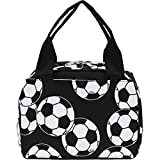 Soccer Ball Print NGIL Insulated Lunch Tote Bag