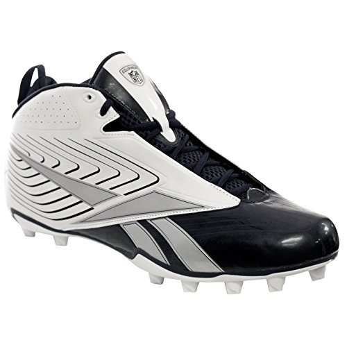 REEBOK NFL UFORM 4SPEED MID M4 MENS FOOTBALL CLEATS WHITE  NAVY 11