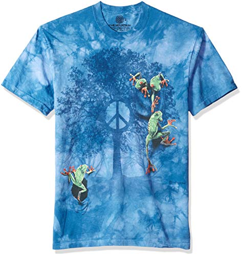 - The Mountain Peace Tree Frog Adult T-Shirt, Blue, Large