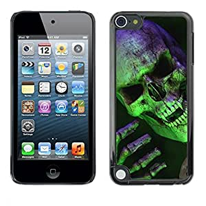 Impact Case Cover with Art Pattern Designs FOR Apple iPod Touch 5 Halloween Scary Green Skull Vampire Betty shop
