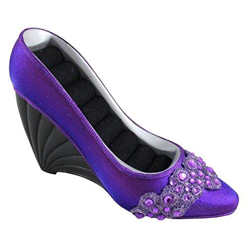 Jacki Design Dazzling Gems Shoe Ring Holder (Purple) JGS22865