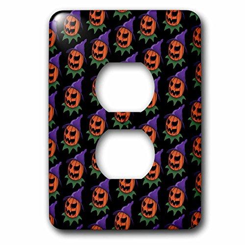 3dRose  lsp_55011_6 Pattern Halloween Jack O Lantern 2 2 Plug Outlet Cover]()