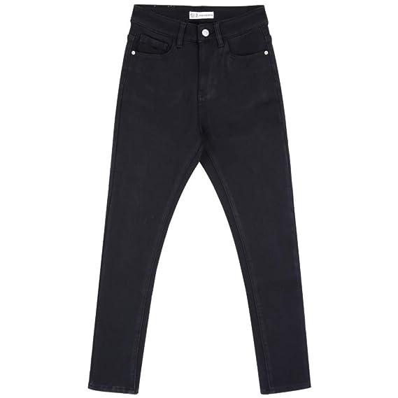 RLWFJXH Jean Mujer Vellón Espesar Negro Invierno Jeans ...
