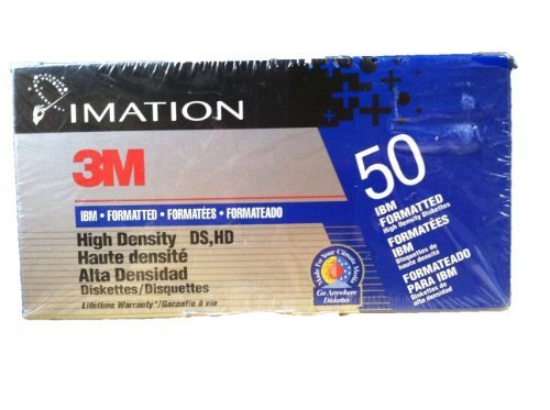 Imation 3.5'' Diskettes 3M IBM Formatted High Density DS, HD 1.44MB, Box of 50 by Imation