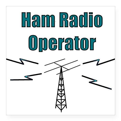 CafePress Ham Radio Operator Square Sticker Square Bumper Sticker Car Decal, 3