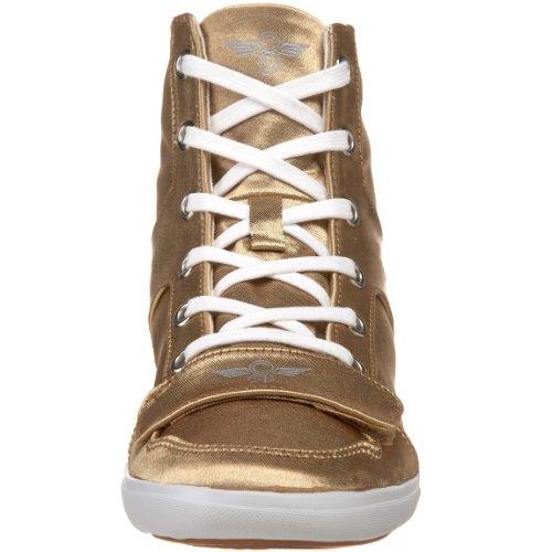 Creativo Da Donna Cesario Xvi Fashion Sneaker Oro Satinato